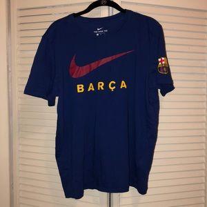 Mens Barca Nike Teeshirt. Used. good condition